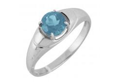 Серебряные кольца с топазом 122300