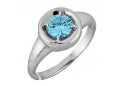 Серебряные кольца с топазом 106443