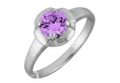 Серебряные кольца с аметистом 122231