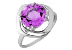 Серебряные кольца с аметистом 122206