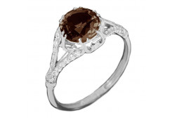 Кольца из серебра, вставка раух-топаз 132804