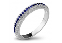 Кольца из серебра, вставка корунд 121208