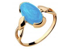 Женские кольца из золота, вставка бирюза 129957