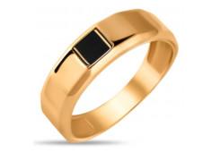 Кольца из золота, вставка оникс 131716