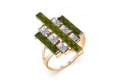 Золотое кольцо с нефритом