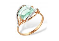 Золотое кольцо с празиолитом