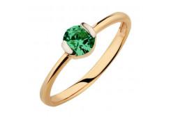 Золотое кольцо с кварцем