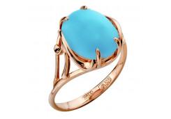Женские кольца из золота, вставка бирюза 120838