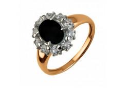 Женские кольца из золота, вставка оникс 107441