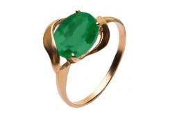 Золотое кольцо с хризопразом