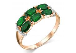 Кольца из золота, вставка агат зеленый 105689