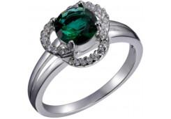 Женские кольца из серебра, вставка кварц 129202