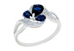 Женские кольца из серебра, вставка кварц 129728