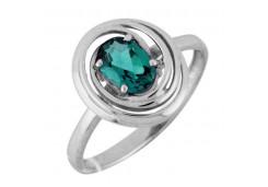 Женские кольца из серебра, вставка кварц 122303