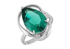 Женские кольца из серебра, вставка кварц 122305