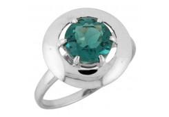 Женские кольца из серебра, вставка кварц 106491