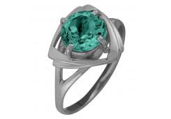 Женские кольца из серебра, вставка кварц 122351