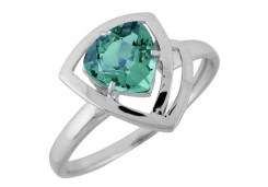 Женские кольца из серебра, вставка кварц 122358