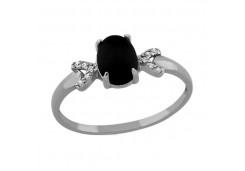 Кольца из серебра, вставка кварц 108097