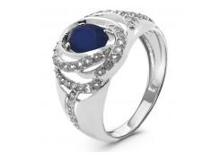 Кольца из серебра, вставка кварц 124410