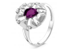 Женские кольца из серебра, вставка кварц 125503