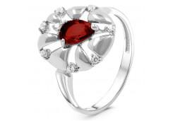 Женские кольца из серебра, вставка кварц 125062