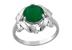 Женские кольца из серебра, вставка кварц 129018