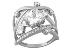 Женские кольца из серебра, вставка кварц 125055