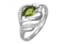 Женские кольца из серебра, вставка кварц 124335