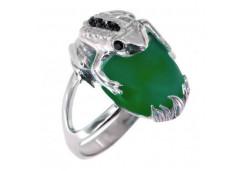 Серебряные кольца с агатом 110764