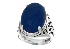 Кольцо из серебра 925 пробы с лазуритом