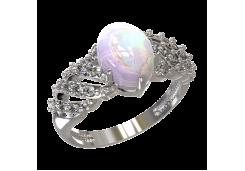 Женские кольца из серебра с опалом 124590