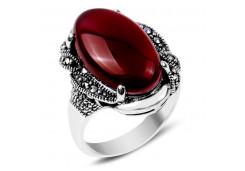 Кольца из серебра, вставка сердолик 105621