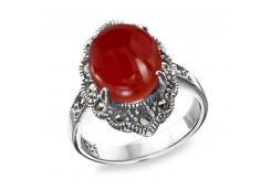 Кольца из серебра, вставка сердолик 105617