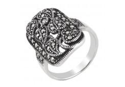 Серебряное кольцо с марказитом