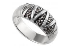 Кольцо из серебра 925 пробы с марказитом
