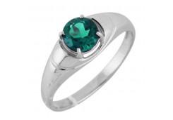 Женские кольца из серебра, вставка кварц 122302