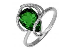 Женские кольца из серебра, вставка кварц 124319