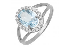 Женские кольца из серебра, вставка кварц 99288