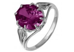 Женские кольца из серебра, вставка кварц 124251