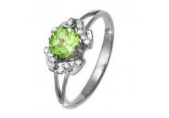 Женские кольца из серебра, вставка кварц 100990