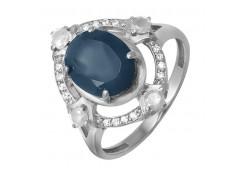 Кольца из серебра, вставка кварц 101612