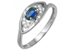 Женские кольца из серебра, вставка кварц 124253