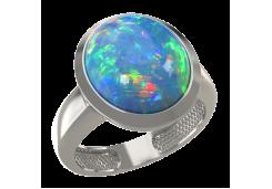 Женские кольца из серебра с опалом 124543