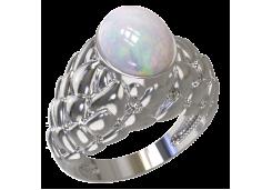 Женские кольца из серебра с опалом 124594