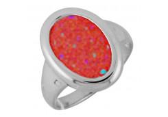 Кольцо из серебра 925 пробы с опалом
