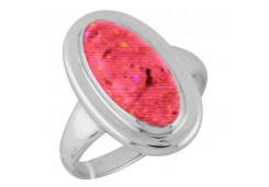 Женские кольца из серебра с опалом 122827