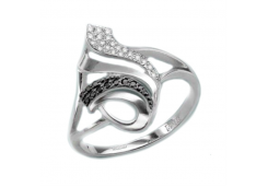Женские золотые кольца с цветными фианитами 103180