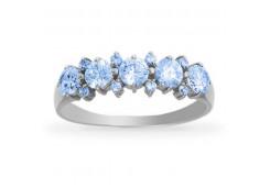Женские золотые кольца с цветными фианитами 123057