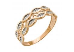 Золотые кольца с белыми фианитами 131779